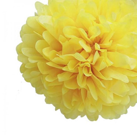 Yellow Tissue Pom Pom - Large Yellow-Tissue-Pom-Pom---Large
