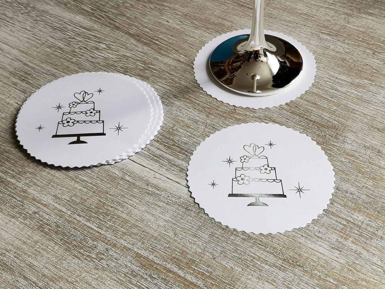 Paper Coasters - Wedding Cake Papercoasters-cake