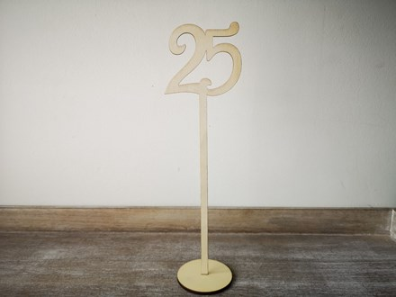 Tall Wooden Table Numbers 1-25 Tallwooden1-25