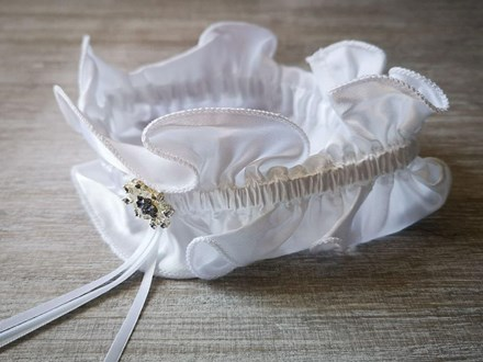 White Garter with Rhinestones White-Garter-with-Rhinestones