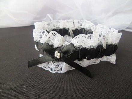 Black Satin and lace Garter Black-Satin-and-lace-Garter