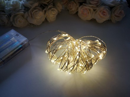 10m Seed Lights Warm White Silver Wire 10m-Seed-Lights-Warm-White-Silver-Wire