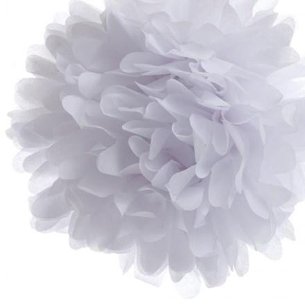 White Tissue Pom Pom - Large White-Tissue-Pom-Pom---Large