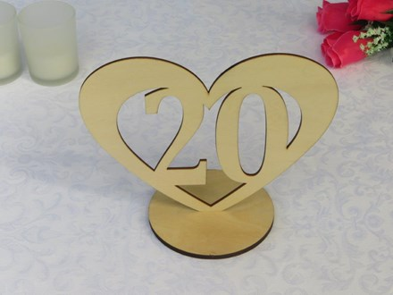 Wooden Heart Table Numbers 1-20 Wooden-Heart-Table-Numbers-1-20
