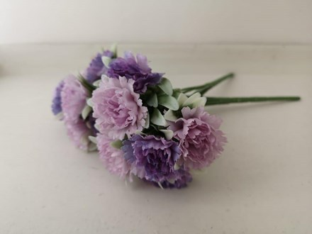 Purple Carnations 7 Head AF0388