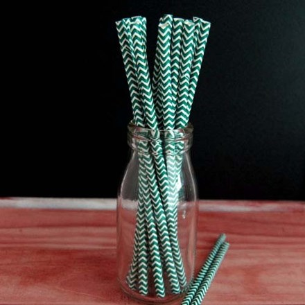 Blue/Green Chevron Straws Blue/Green-Chevron-Straws
