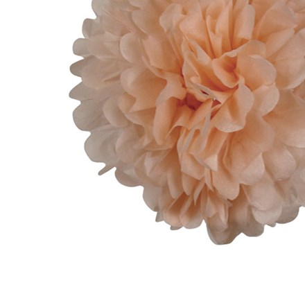 Peach Tissue Pom Pom - Small Peach-Tissue-Pom-Pom---Small