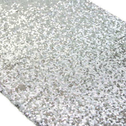 HIRE - Silver Sequin Table Runner HIRE---Silver-Sequin-Table-Runner