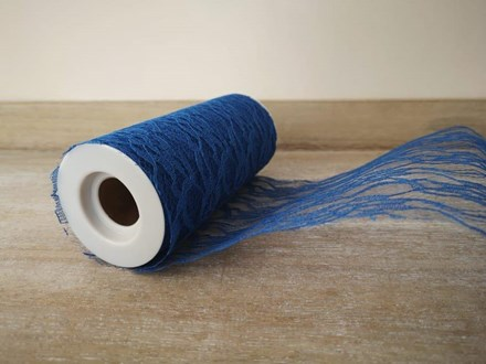 Royal Blue Lace Roll 15cm x 10mtrs RLR15