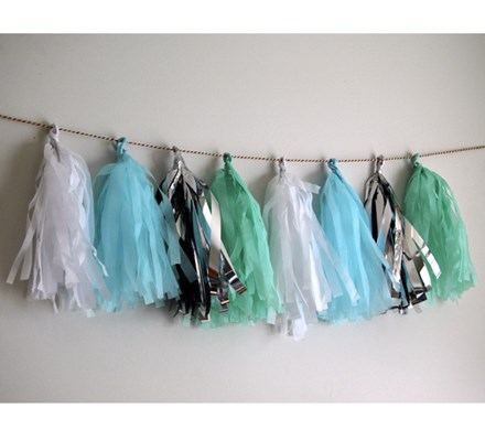 Mint & Blue Tissue Tassels 12pcs Mint-&-Blue-Tissue-Tassels-12pcs