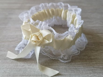 Cream Satin and Lace Garter Cream-Satin-and-lace-Garter