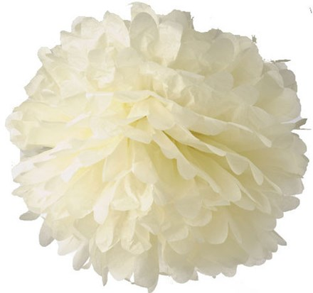 Ivory Tissue Pom Pom - Large Ivory-Tissue-Pom-Pom---Large